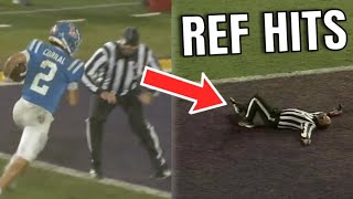 College Football Refs Getting Hit