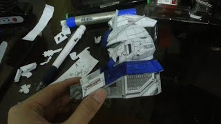 Papercraft: Gundam RX-93-2-HI-V Mini Head [Time Lapse]