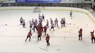 U18冰球賽 中國大陸隊與中華隊爆衝突