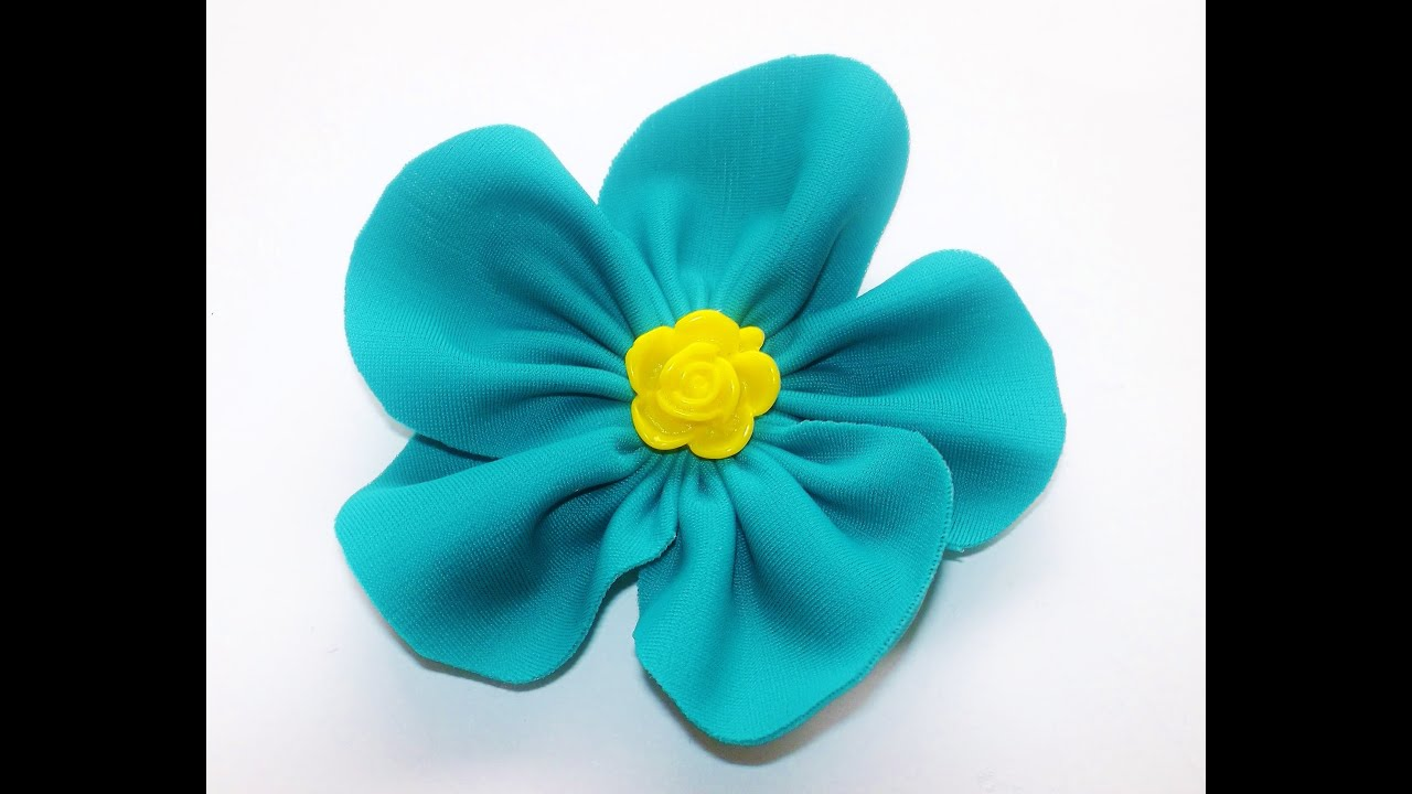 Tutorial how to make handmade flower fiori di stoffa fai for Fiori grandi da colorare