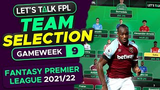 FPL TEAM SELECTION GAMËWEEK 9   Lukaku captain?   FANTASY PREMIER LEAGUE 2021/22 TIPS