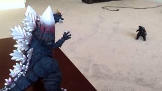 Godzilla vs Space Godzilla STOPMOTION!!!!