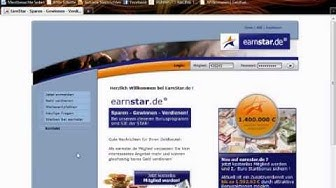 Geld verdienen im Internet mit earnstar (paidmails)