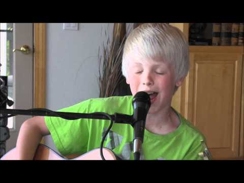 Maroon 5 - Payphone ft. Wiz Khalifa by 10 yr old Carson Lueders acoustic cover