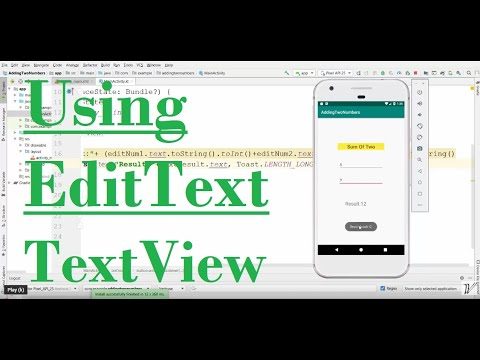 Android / Kotlin -Adding Two Numbers Using EditText
