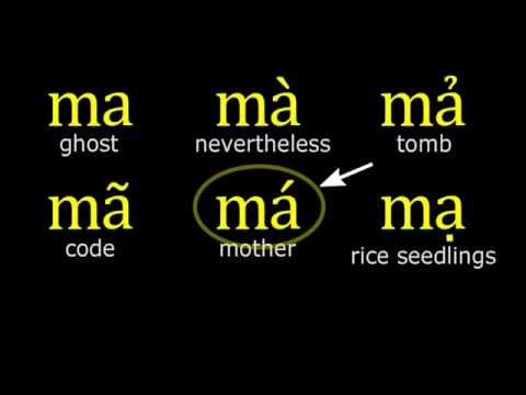 Vietnamese Lesson 6, Alphabet, Tones, Word Structures and Pronunciation (Northern Accent)