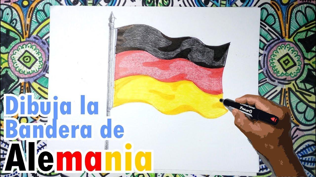 Cómo Dibujar La Bandera De Alemania Ondeando