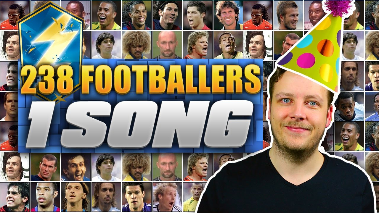238 FOOTBALL PLAYERS - 1 SONG!! 😂  ED SHEERAN SHAPE OF YOU FOOTBALLERS SUBSCRIBER FUNNY COVER REMIX