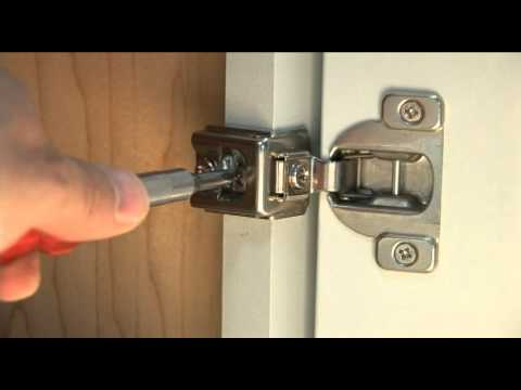 How to remove kitchen cabinet door hinges