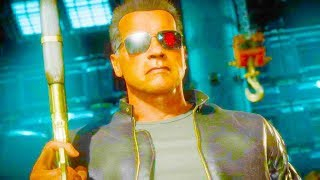 Mortal Kombat 11 PC - Terminator Movie Skin Performs Intro Dialogues Vs All MK11 Characters