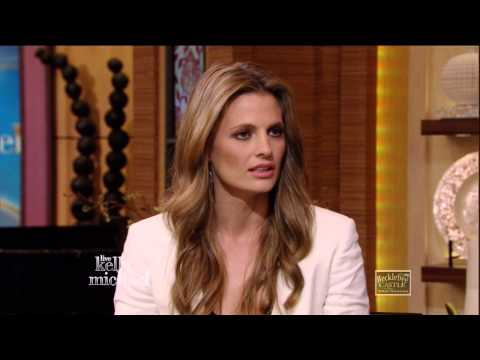Stana Katic in Live with Kelly & Michael w/ Castle The Lives ...