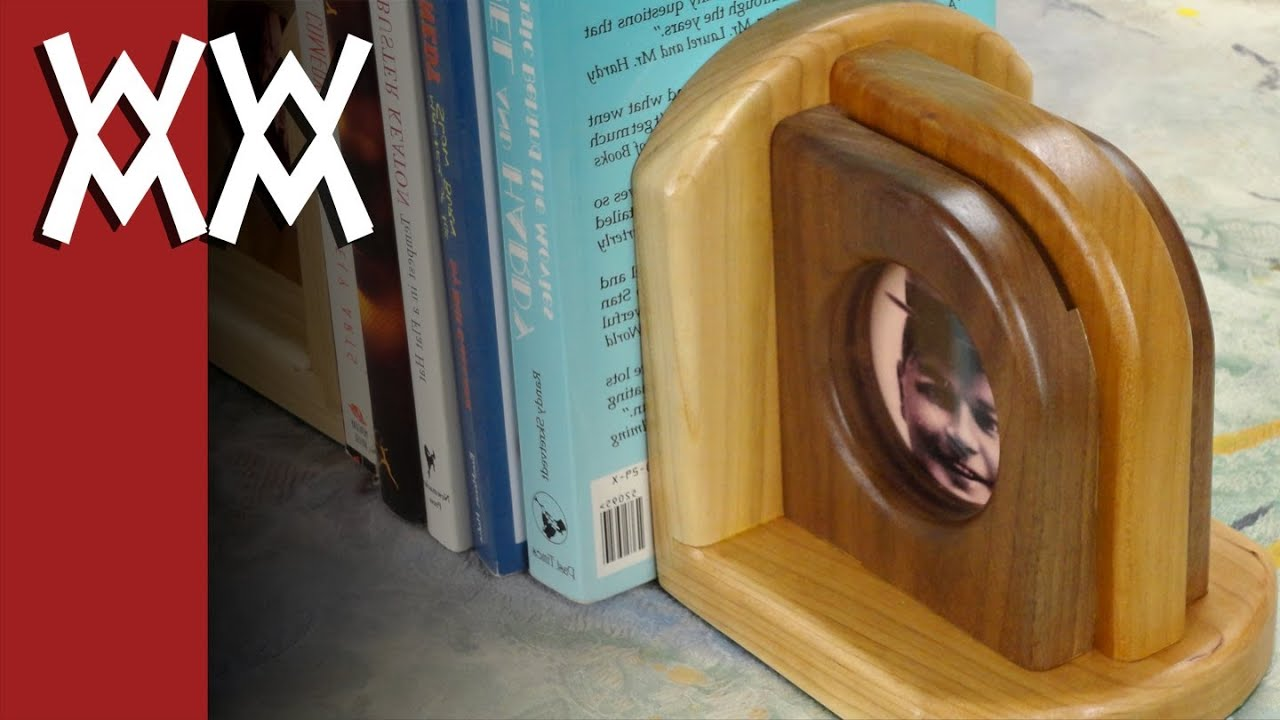 Wood picture frame bookends - YouTube