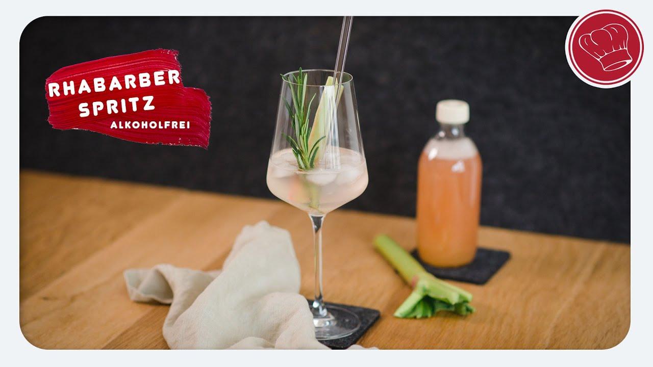 Rhabarber Spritz, Sommercocktail alkohlfrei | elegant-kochen.de