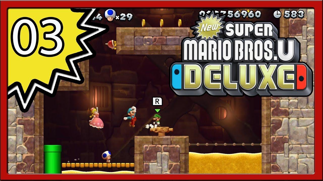 New Super Mario Bros U Deluxe Part 3 4 Player Youtube