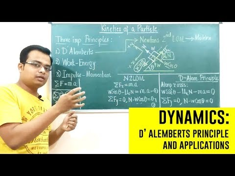 D' Alemberts Principle | Dynamics | Engineering Mechanics