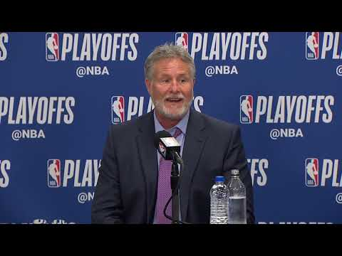 Brett Brown Postgame Interview - Game 4 | Raptors vs 76ers | 2019 NBA Playoffs