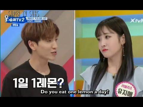 [Super Tv 2| Ep2|Eng Sub]Super Junior Testing Lemon's Sourness