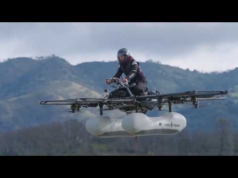 Watch Kitty Hawk's early test pilots learn to love the flying motorbike