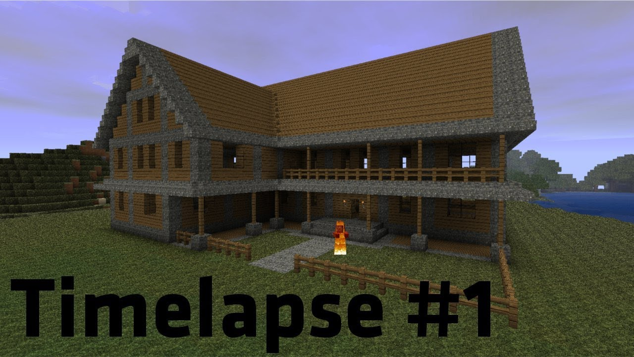 Minecraft Timelapse Simple Farmhouse HD YouTube - Minecraft schones haus bauen youtube