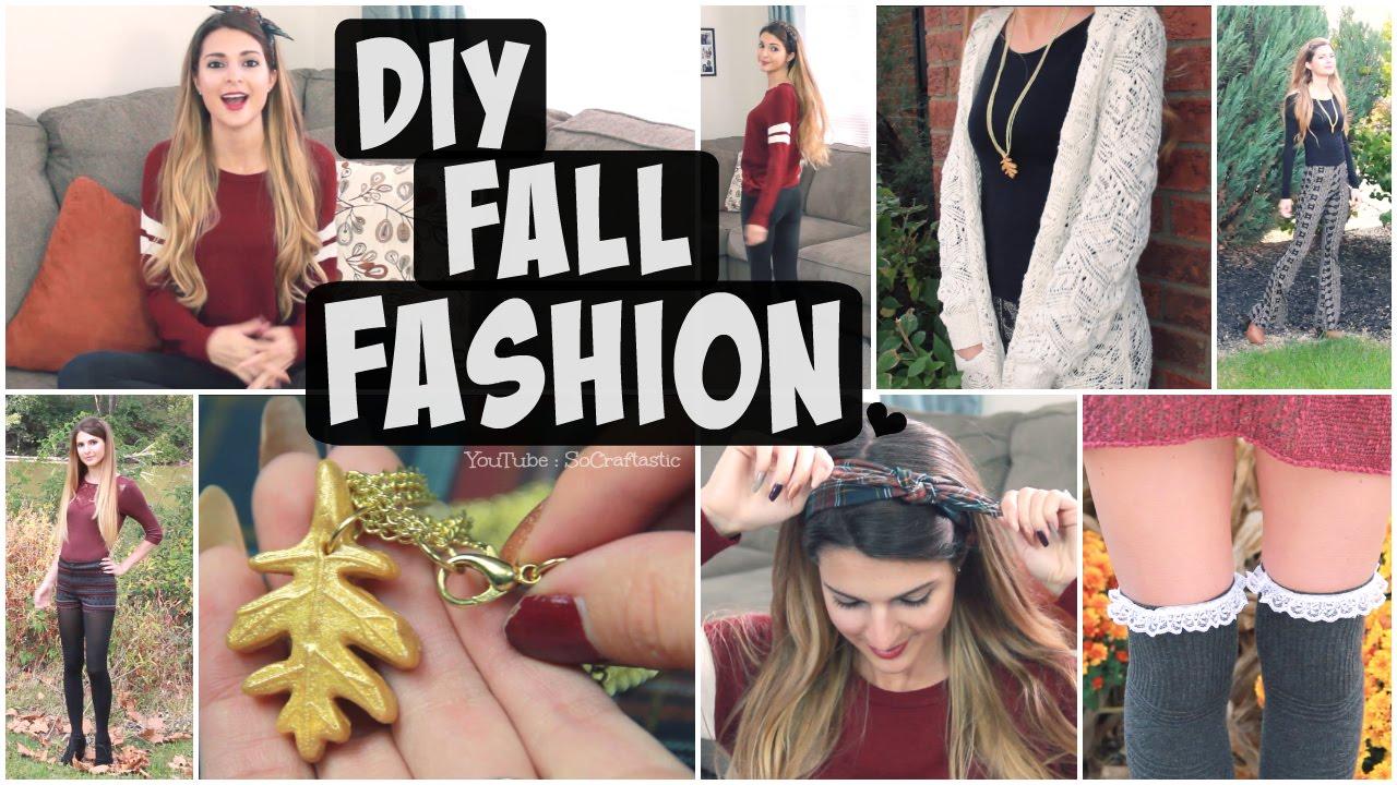 DIY FALL Fashion Accessories + Autumn Outfits Lookbook ...