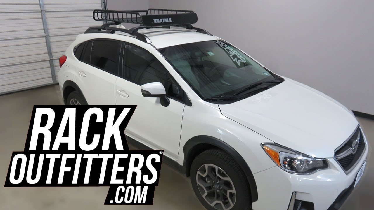 Subaru Xv Crosstrek With Yakima Loadwarrior Roof Top Cargo Basket Rack