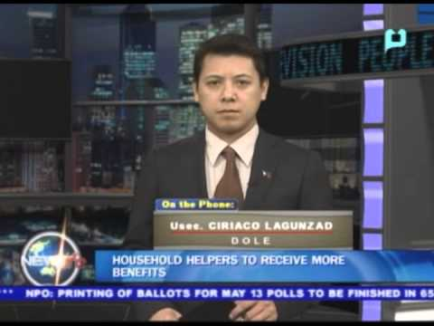 NewsLife Interview: DOLE Usec. Ciriaco Lagunzad - on Household helpers to receive more benefits