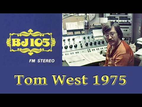 BJ-105, WBJW-FM ORLANDO RADIO, TOM WEST AIR CHECK