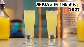 Ankles in the Air Shot - Tipsy bartender