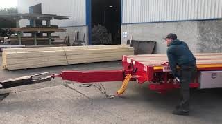 MAC Extending Drawbar Flat Trailer