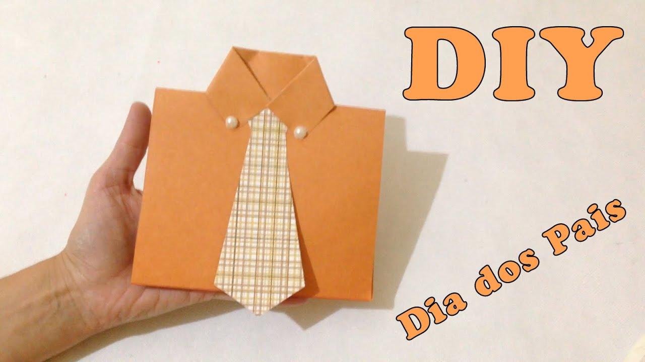 Artesanato Madeira Passo A Passo ~ Como Fazer Cart u00e3o para o Dia dos Pais DIY Artesanatos