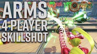 ARMS 4 Player Skillshot Gameplay - Nintendo Switch