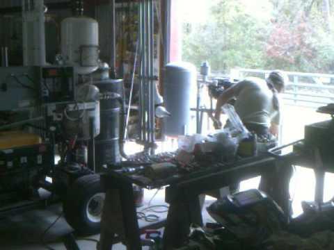 New chunker engine, first run on wood gas