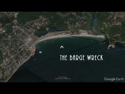 Scuba Dive Narragansett Bay Beach Barge Wreck in Rhode Island