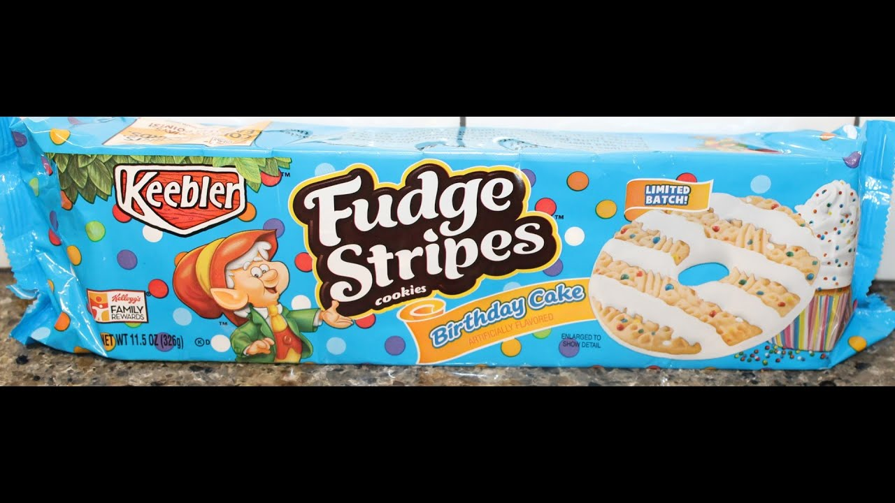 Fudge Stripes Cookies Birthday Cake Review Youtube