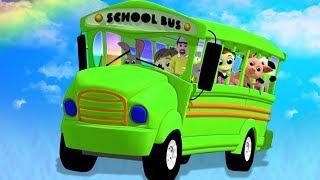 Колеса на автобусе | детские рифмы для детей | автобусная песня в россии | Wheels On The Bus