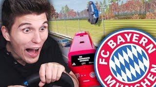 FC Bayern schleudert die Polizei durch die Luft ✪ Fernbus Simulator mit Lenkrad thumbnail