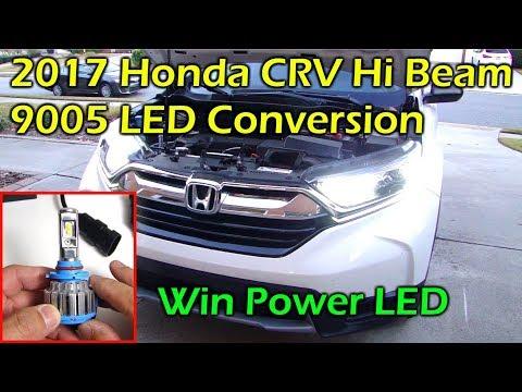 $30 LED High Beam Install 2017 Honda CRV - Win Power 9005