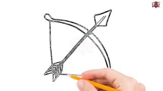 bow arrow drawing simple sketch draw easy step drawings paintingvalley sketches tutorial