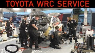 WRC Night Service of Ott Tanak's Rally Car - WRC Australia 2018