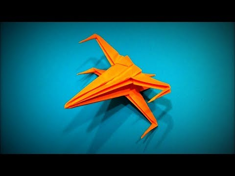 How to Make a Paper Airplane Spaceship from Star Wars DIY | Easy Origami ART | Paper Crafts