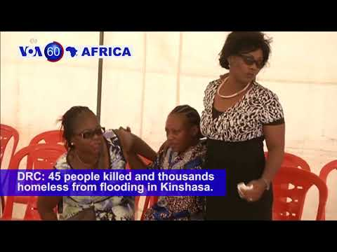 DRC: 45 people killed and thousands homeless from flooding in Kinshasa - VOA60 Africa 1-11-2018