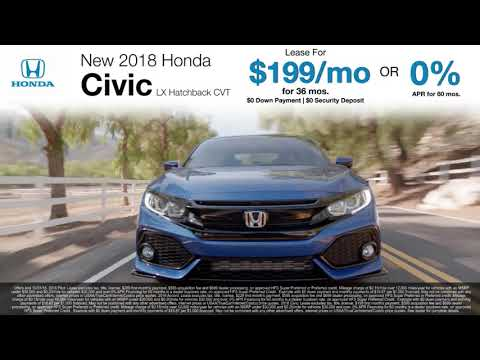 Lease & Finance Offers On New 2018 Pilot, Accord, & Civic Models! VA MD