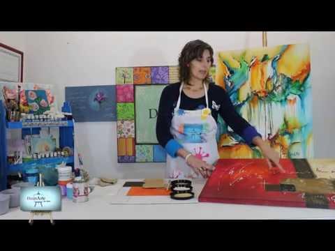 diferentes tecnicas y texturas para realizar cuadros abstractos youtube