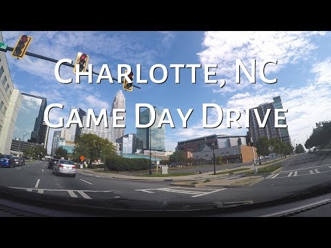 LET'S DRIVE - Carolina Panthers Game Day Drive in Downtown Charlotte, NC