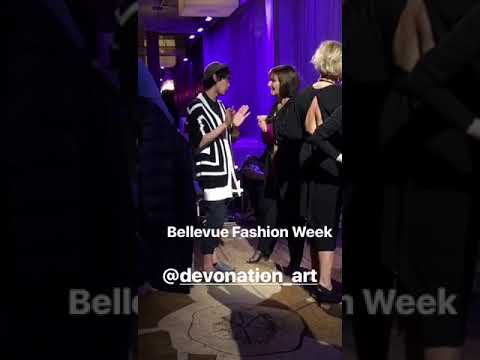 Devin socializing at Bellevue Fashion Opening Gala