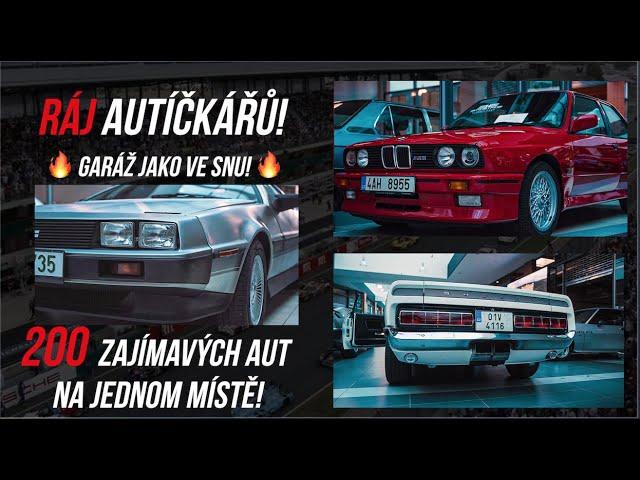 Ráj AUTÍČKÁŘŮ! | sbírka 200 zajímavých aut na jednom místě! | DELOREAN / E30 M3 / SHELBY GT