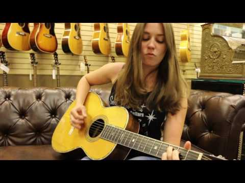 Angela Petrilli playing our 1908 Martin Style 42 here at Norman's Rare Guitars