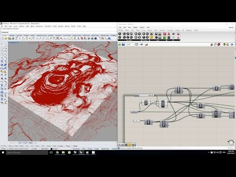 Grasshopper - Creating a Site Model From Contours