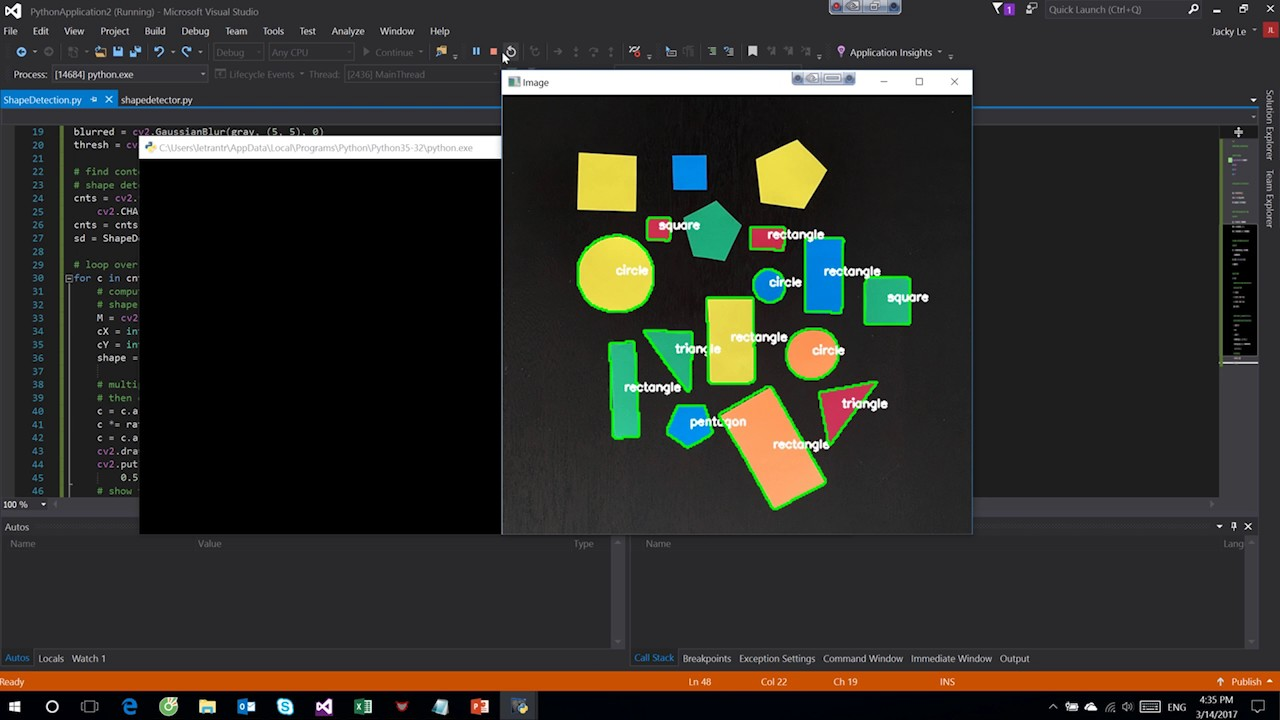 Shape Dectection OpenCV in Python