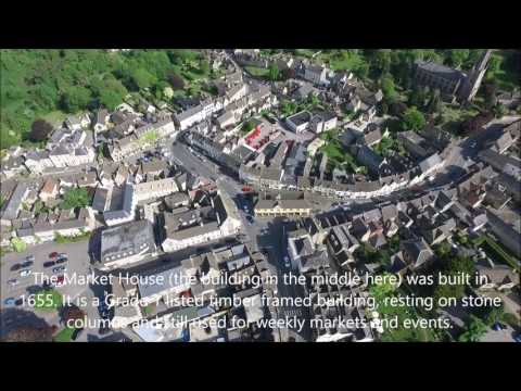 Aerial tour of Tetbury, Gloucestershire